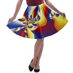 Mandelbrot Math Fractal Pattern A Line Skater Skirt