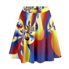Mandelbrot Math Fractal Pattern High Waist Skirt