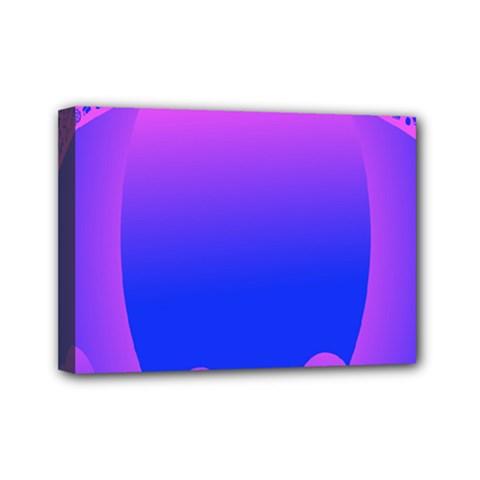 Abstract Bright Color Mini Canvas 7  X 5