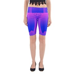 Abstract Bright Color Yoga Cropped Leggings