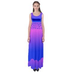 Abstract Bright Color Empire Waist Maxi Dress