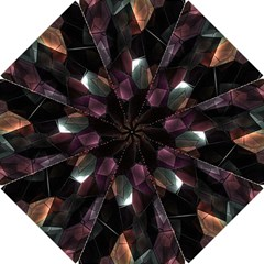 Crystals Background Design Luxury Hook Handle Umbrellas (small)