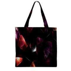 Crystals Background Design Luxury Zipper Grocery Tote Bag