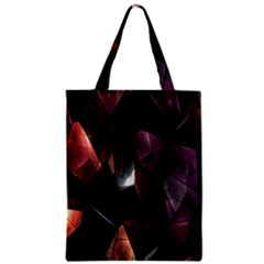 Crystals Background Design Luxury Zipper Classic Tote Bag
