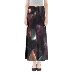 Crystals Background Design Luxury Full Length Maxi Skirt