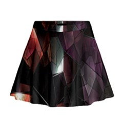 Crystals Background Design Luxury Mini Flare Skirt