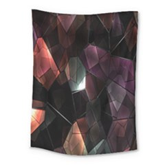 Crystals Background Design Luxury Medium Tapestry