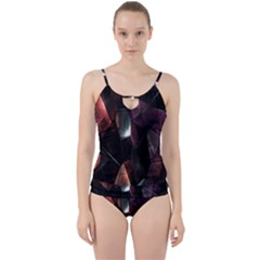 Crystals Background Design Luxury Cut Out Top Tankini Set
