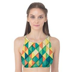 Background Geometric Triangle Tank Bikini Top