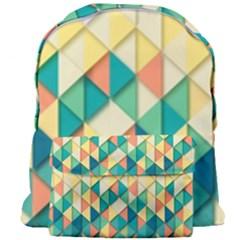 Background Geometric Triangle Giant Full Print Backpack