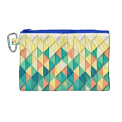 Background Geometric Triangle Canvas Cosmetic Bag (large)