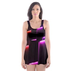 Mode Background Abstract Texture Skater Dress Swimsuit