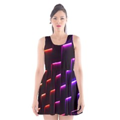 Mode Background Abstract Texture Scoop Neck Skater Dress