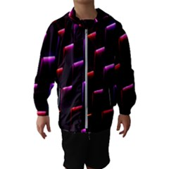 Mode Background Abstract Texture Hooded Wind Breaker (kids)