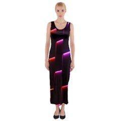Mode Background Abstract Texture Fitted Maxi Dress