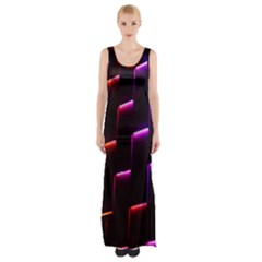 Mode Background Abstract Texture Maxi Thigh Split Dress