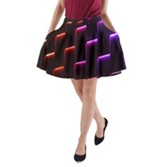 Mode Background Abstract Texture A Line Pocket Skirt