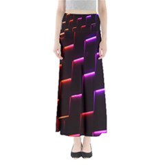 Mode Background Abstract Texture Full Length Maxi Skirt
