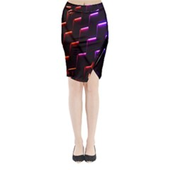 Mode Background Abstract Texture Midi Wrap Pencil Skirt