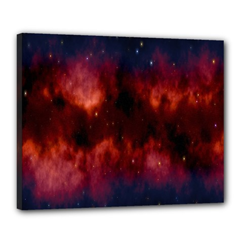 Astronomy Space Galaxy Fog Canvas 20  X 16