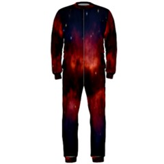 Astronomy Space Galaxy Fog Onepiece Jumpsuit (men)