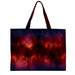 Astronomy Space Galaxy Fog Zipper Large Tote Bag