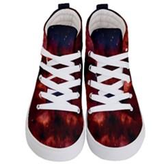 Astronomy Space Galaxy Fog Kid s Hi Top Skate Sneakers