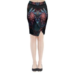 Abstract Background Texture Pattern Midi Wrap Pencil Skirt