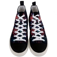 Abstract Background Texture Pattern Men s Mid Top Canvas Sneakers
