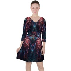 Abstract Background Texture Pattern Ruffle Dress