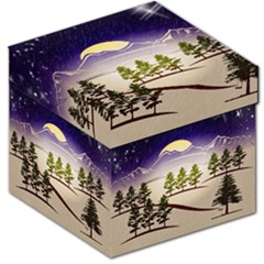 Background Christmas Snow Figure Storage Stool 12