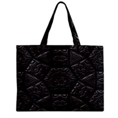Emboss Luxury Artwork Depth Zipper Mini Tote Bag