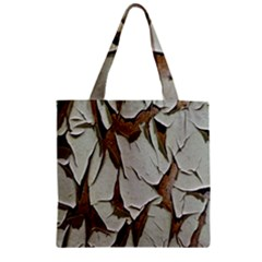 Dry Nature Pattern Background Zipper Grocery Tote Bag