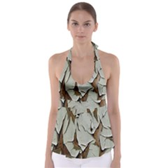 Dry Nature Pattern Background Babydoll Tankini Top