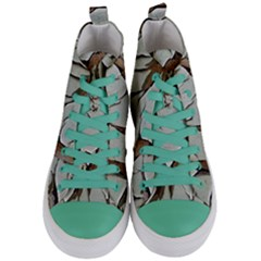 Dry Nature Pattern Background Women s Mid Top Canvas Sneakers