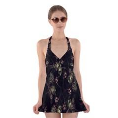 Fractal Art Digital Art Halter Dress Swimsuit