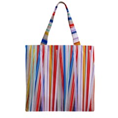 Background Decorate Colors Zipper Grocery Tote Bag