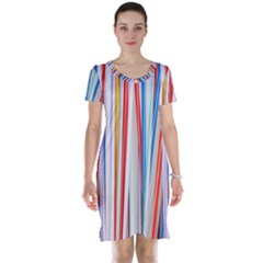 Background Decorate Colors Short Sleeve Nightdress