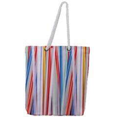Background Decorate Colors Full Print Rope Handle Tote (large)