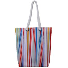 Background Decorate Colors Full Print Rope Handle Tote (small)