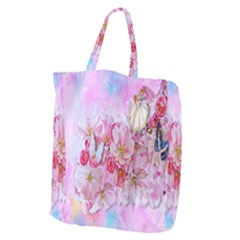 Nice Nature Flowers Plant Ornament Giant Grocery Zipper Tote