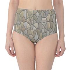 Tile Steinplatte Texture High Waist Bikini Bottoms