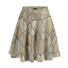 Tile Steinplatte Texture High Waist Skirt