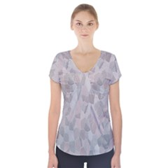 Pattern Mosaic Form Geometric Short Sleeve Front Detail Top