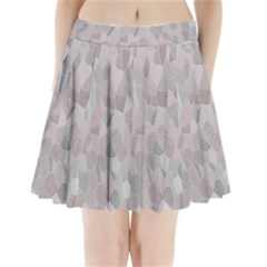 Pattern Mosaic Form Geometric Pleated Mini Skirt