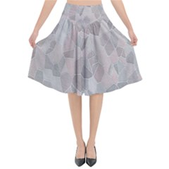 Pattern Mosaic Form Geometric Flared Midi Skirt