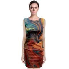 Creativity Abstract Art Classic Sleeveless Midi Dress