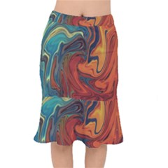 Creativity Abstract Art Mermaid Skirt