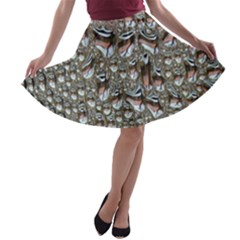 Droplets Pane Drops Of Water A Line Skater Skirt