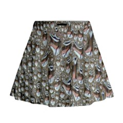 Droplets Pane Drops Of Water Mini Flare Skirt